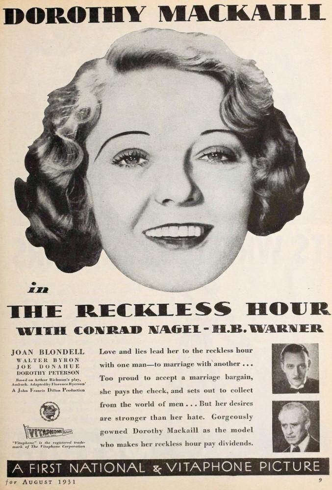 silver screen august 1931ea