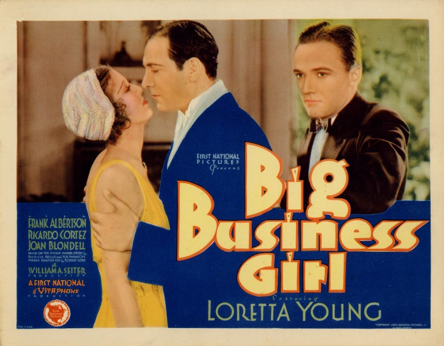 loretta young big business girl lobby card 00