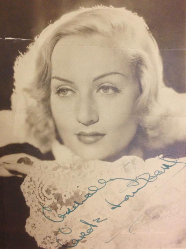 carole lombard autograph 98ab