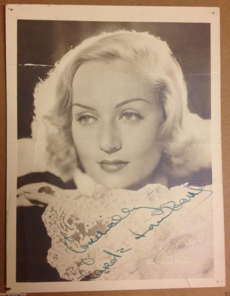 carole lombard autograph 98a