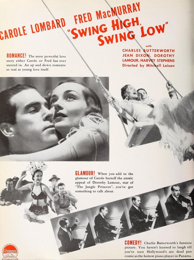 carole lombard swing high, swing low motion picture herald 022737ba