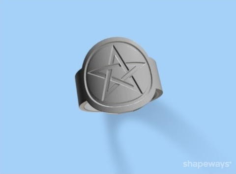 shapeways pentacle solid screenshot