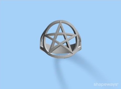 shapeways pentacle outline screenshot