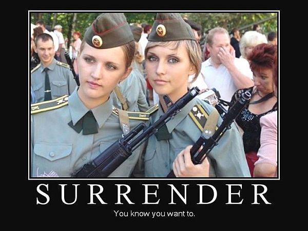 military-humor-funny-joke-soldier-gun-army-russian-women-girl-surrender