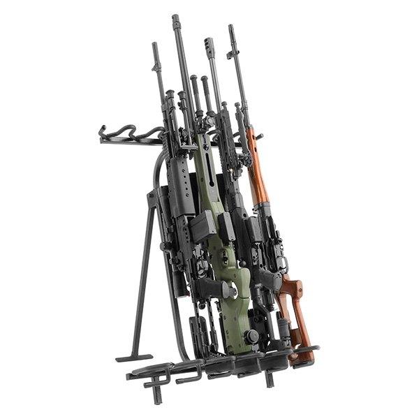 savior equipment rk rif6 st bk mobile 14 gun black floor gun rack