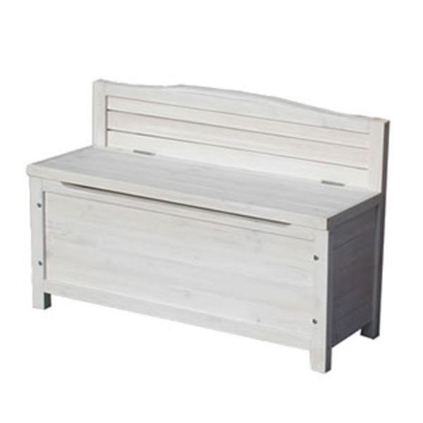 sスタイル 木製収納庫 gbn-900wh 天然木ベンチストッカー 『小型物置