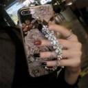 """""""スマホケース iPhone8iPhone8plus iPhone7 iPhone7plus iPhone6s iPhoneplusケースキラキラ花柄チェーンアイフォンケースZ006"""""""