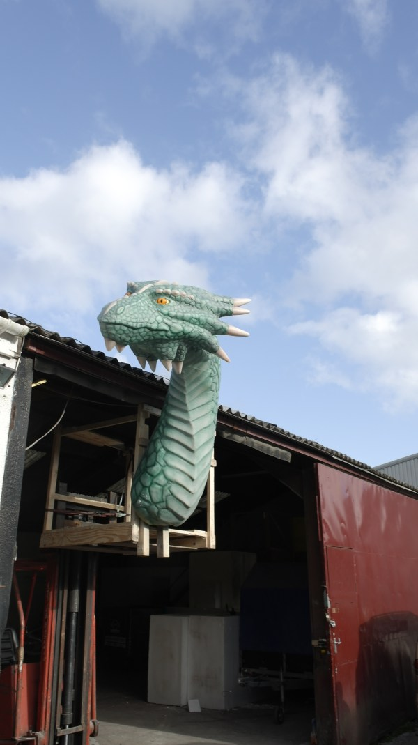 Giant Cornish Dragon Sculpture Airbrushed