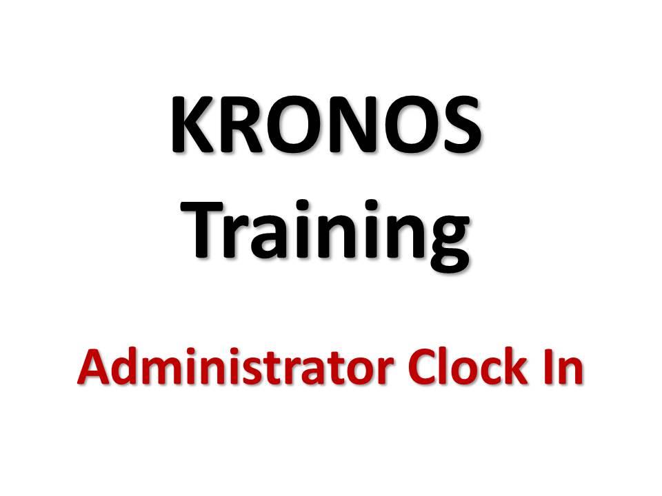 Kronos Time Clock « Interact Cafe