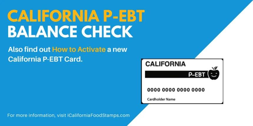 """Check the balance on your California P-EBT Card"""