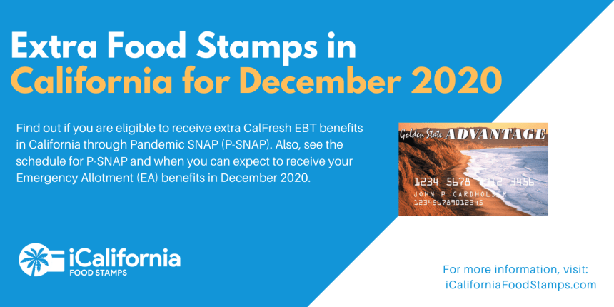 """Extra Food Stamps in California"""
