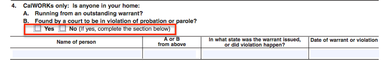 """SA7 Form - Probation or Parole Violation"""
