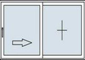 Puerta de doble hoja con una hoja móvil
