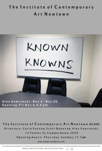 Alex Gawronski - Known Knowns