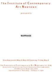 Alex Gawronski - Marriage
