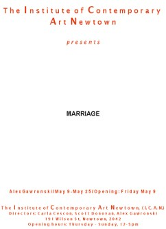 Alex Gawronski - Marriage