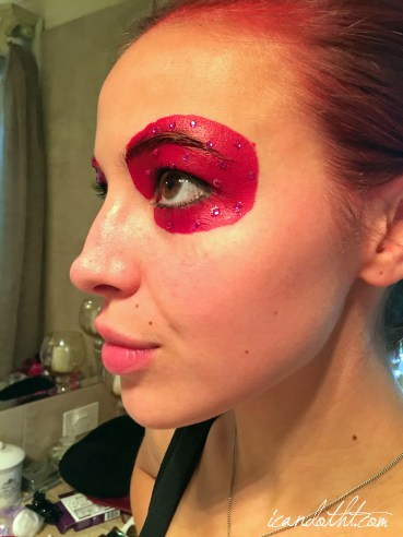 lady gaga red makeup1