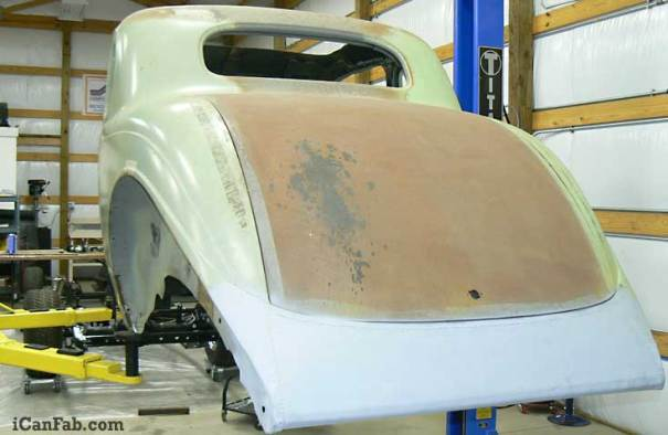 The 36 Plymouth Coupe is looking good