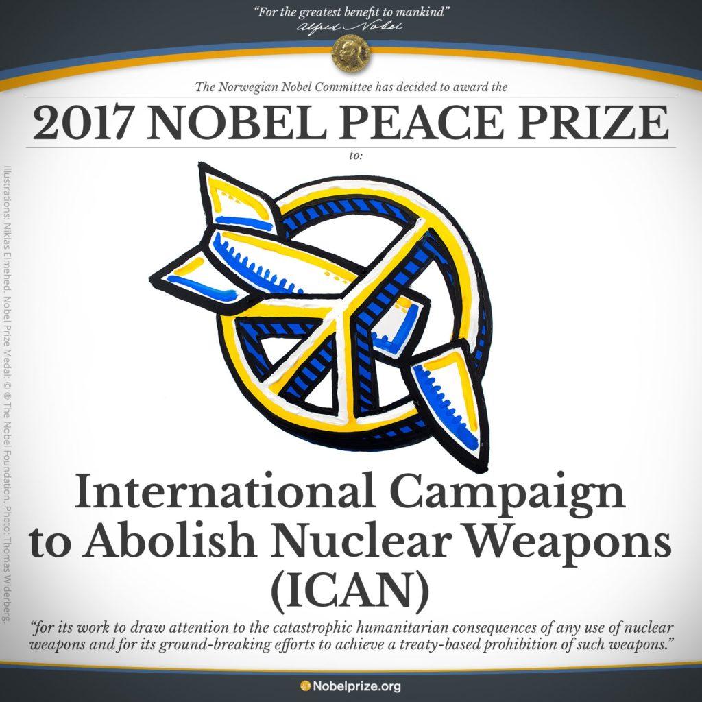 Ican Laureat Du Prix Nobel De La Paix