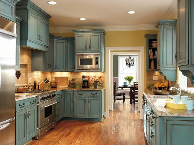 Antiquing White Kitchen Cabinets  Decor IdeasDecor Ideas