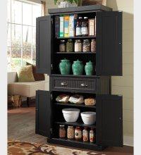 Black Kitchen Storage Cabinet - Decor IdeasDecor Ideas