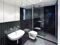 Black and White Bathroom Tile Design Ideas