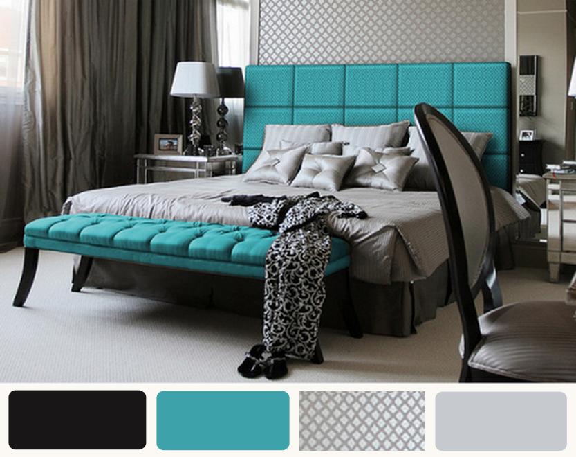 Teal Black and White Bedroom  Decor IdeasDecor Ideas