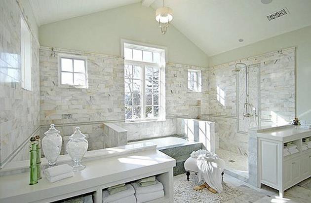 White Master Bathrooms  Decor IdeasDecor Ideas