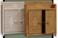 Wicker Wall Cabinet Bathroom - wall shelf unit with wicker ...