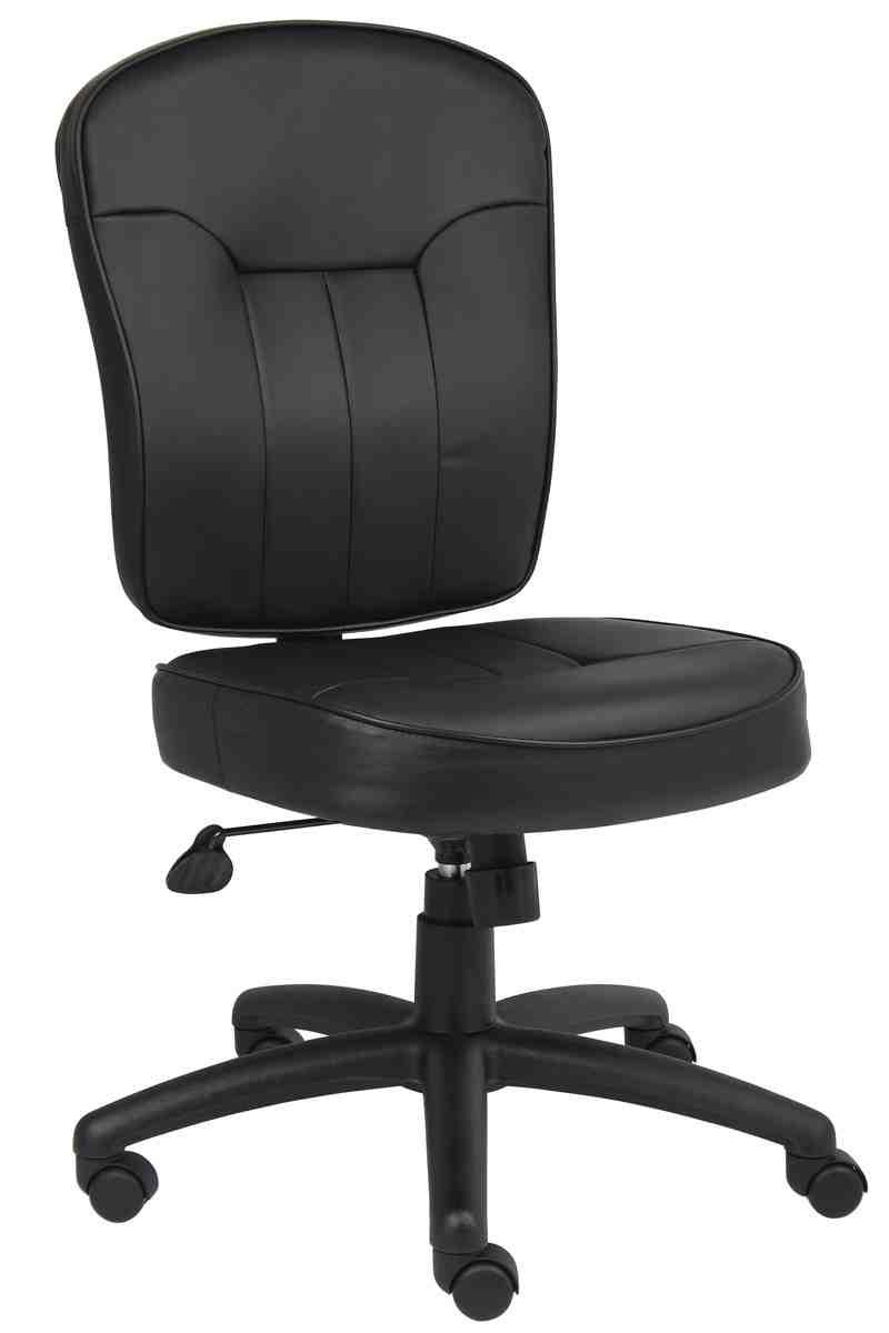 Armless Leather Office Chair  Decor IdeasDecor Ideas