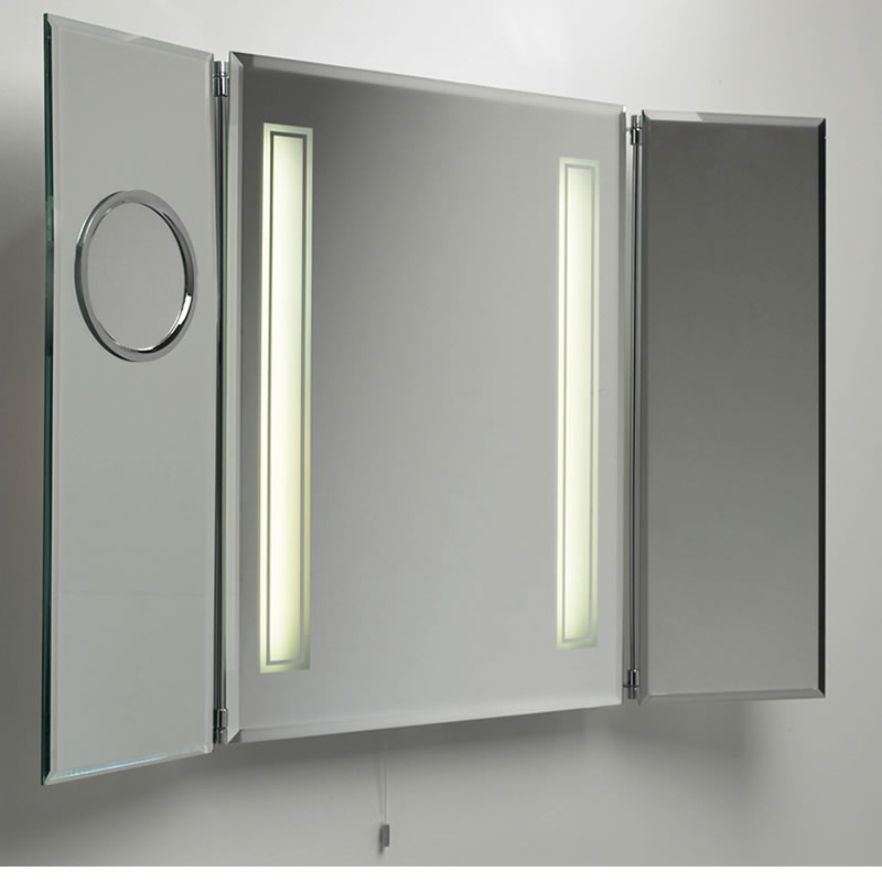 Bathroom Medicine Cabinet with Mirror and Lights  Decor