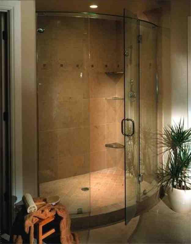 Curved Glass Shower Doors Decor IdeasDecor Ideas