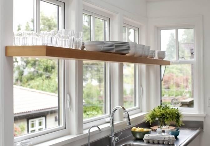 Kitchen Window Shelves