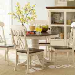 White Round Kitchen Table And Chairs Best Backsplash Antique Decor