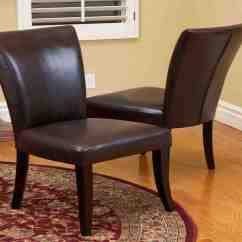 Dining Chair Leather Double Rocker Brown Room Chairs Decor Ideasdecor Ideas