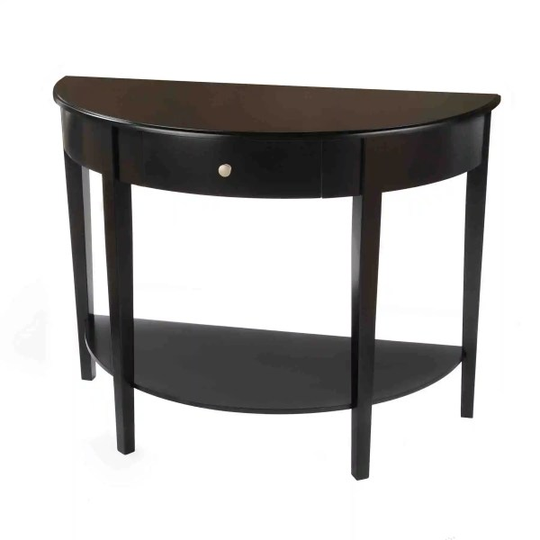 Half Circle Table with Drawer
