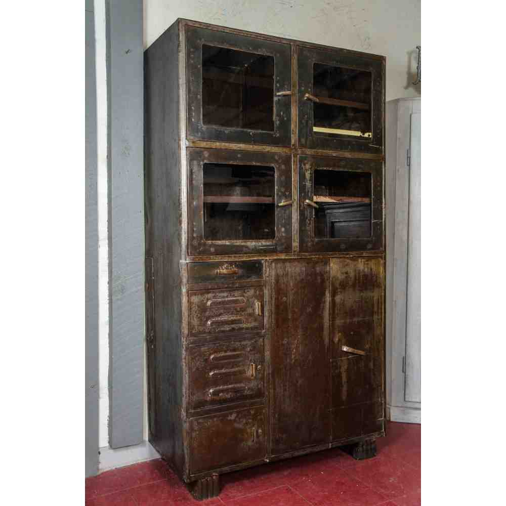 industrial living room furniture leather chair set metal storage cabinets - decor ideasdecor ideas