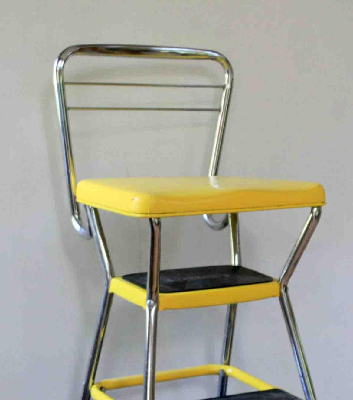 vintage kitchen step stool chair discount cabinets nj cosco decor ideasdecor ideas
