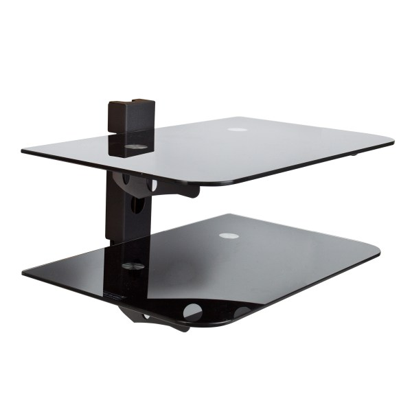 Wall Mounted TV Component Shelves