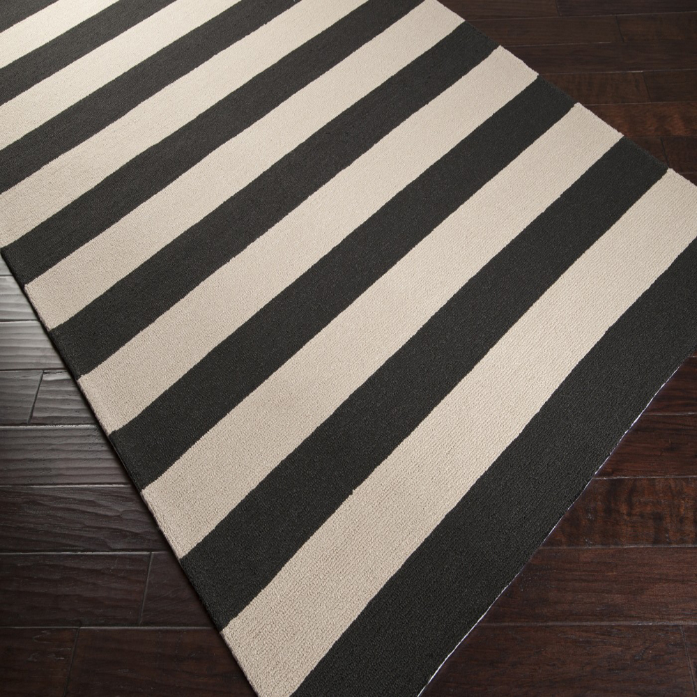 Black And White Striped Area Rug Decor IdeasDecor Ideas