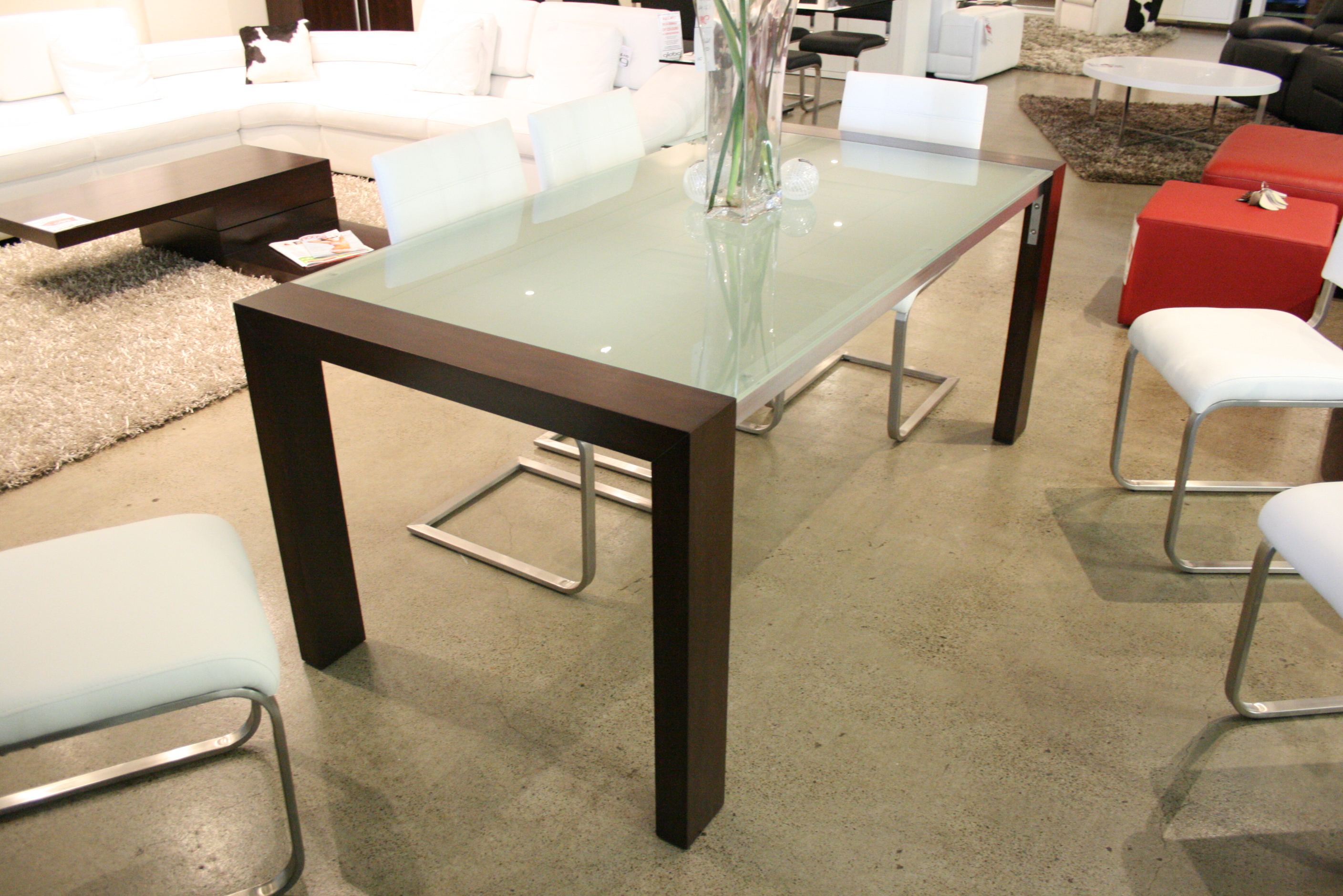 Frosted Glass Top Dining Table Decor IdeasDecor Ideas