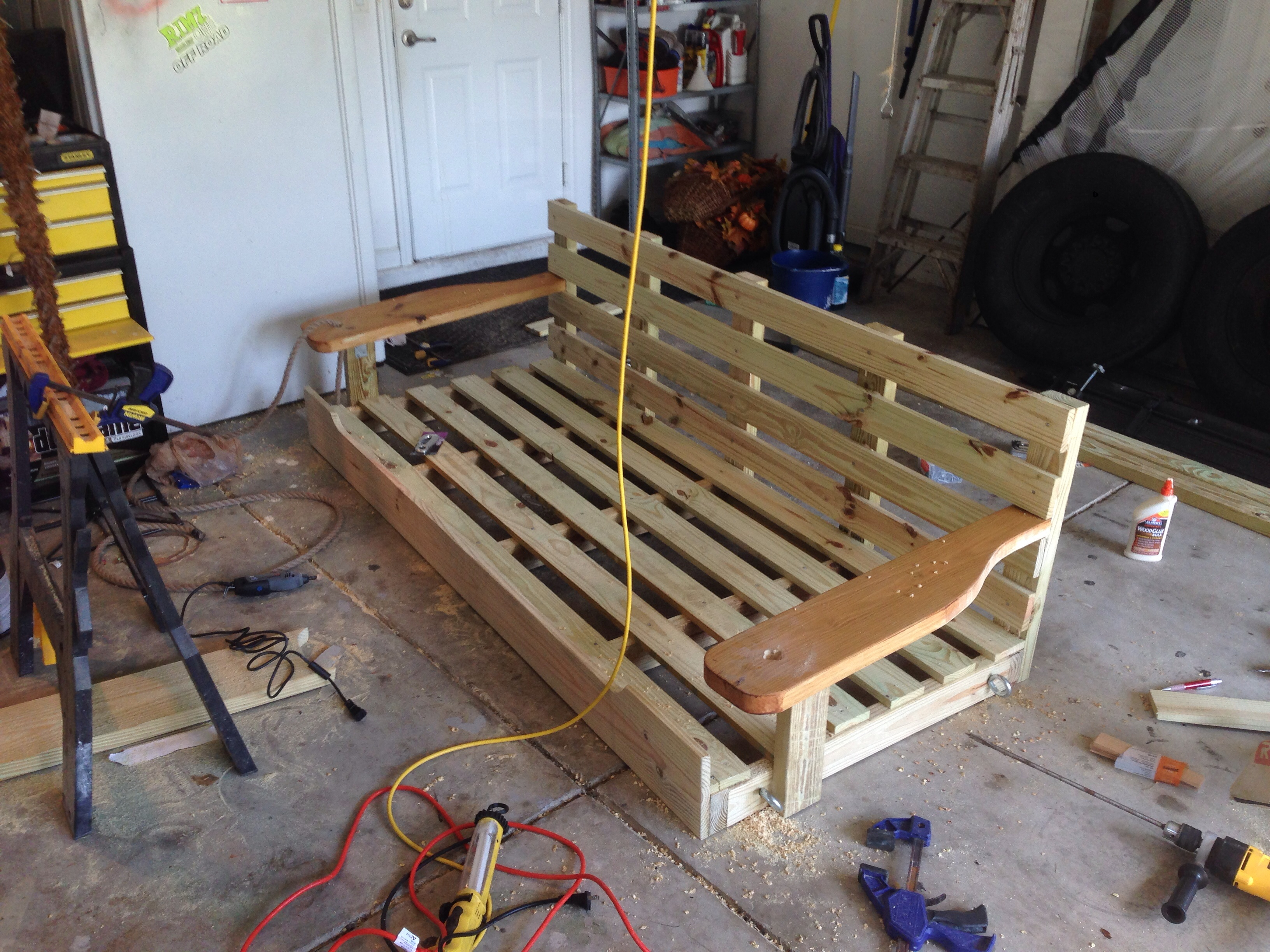 How To Make A Porch Swing Bed  Decor IdeasDecor Ideas