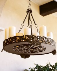Outdoor Candle Chandeliers Wrought Iron - Decor IdeasDecor ...
