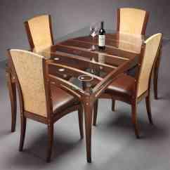 Glass Kitchen Table Set Elegant Curtains Top Dining 4 Chairs Decor Ideasdecor Ideas