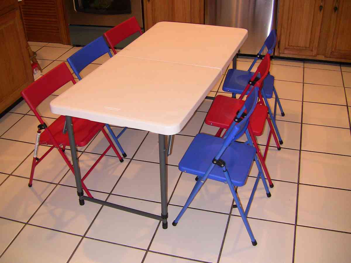 Kids Folding Table And Chairs Set Kids Folding Table And Chair Set Decor Ideasdecor Ideas