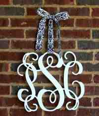 Wrought Iron Monogram Wall Decor - Decor IdeasDecor Ideas