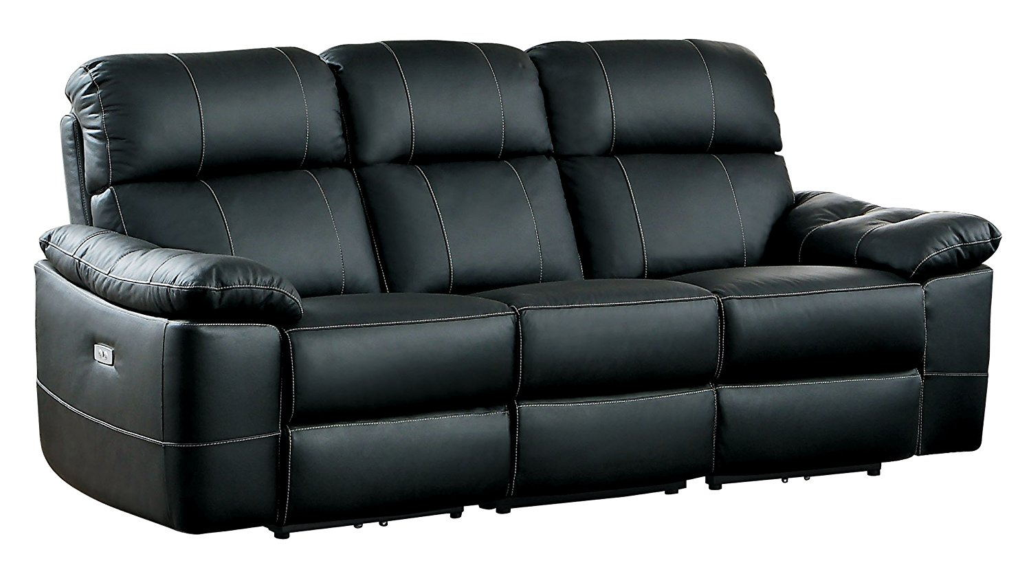 modern power reclining sofa italian leather dallas homelegance nicasio contemporary all genuine