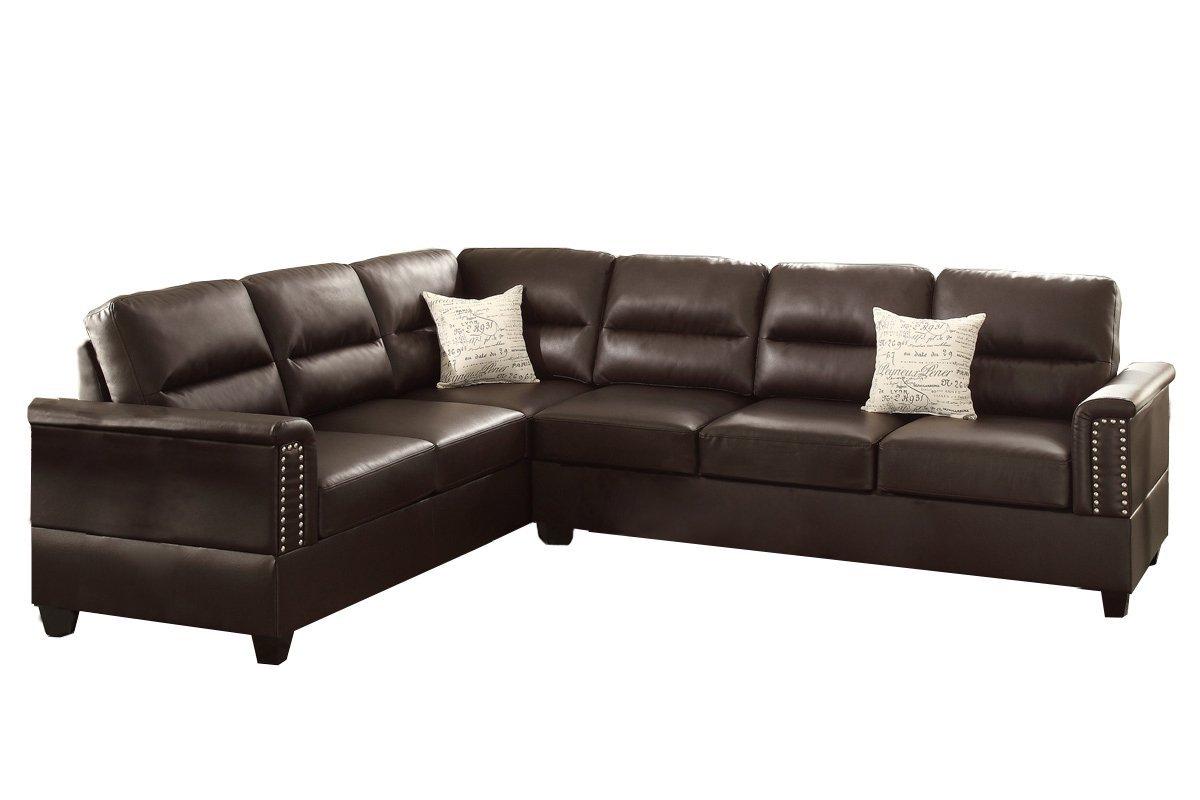 bobkona sectional sofa embly instructions memory foam sleeper mattress topper poundex f7859 parrish bonded leather left decor