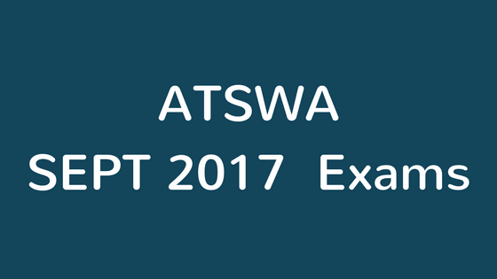 atswa sept exams 2017