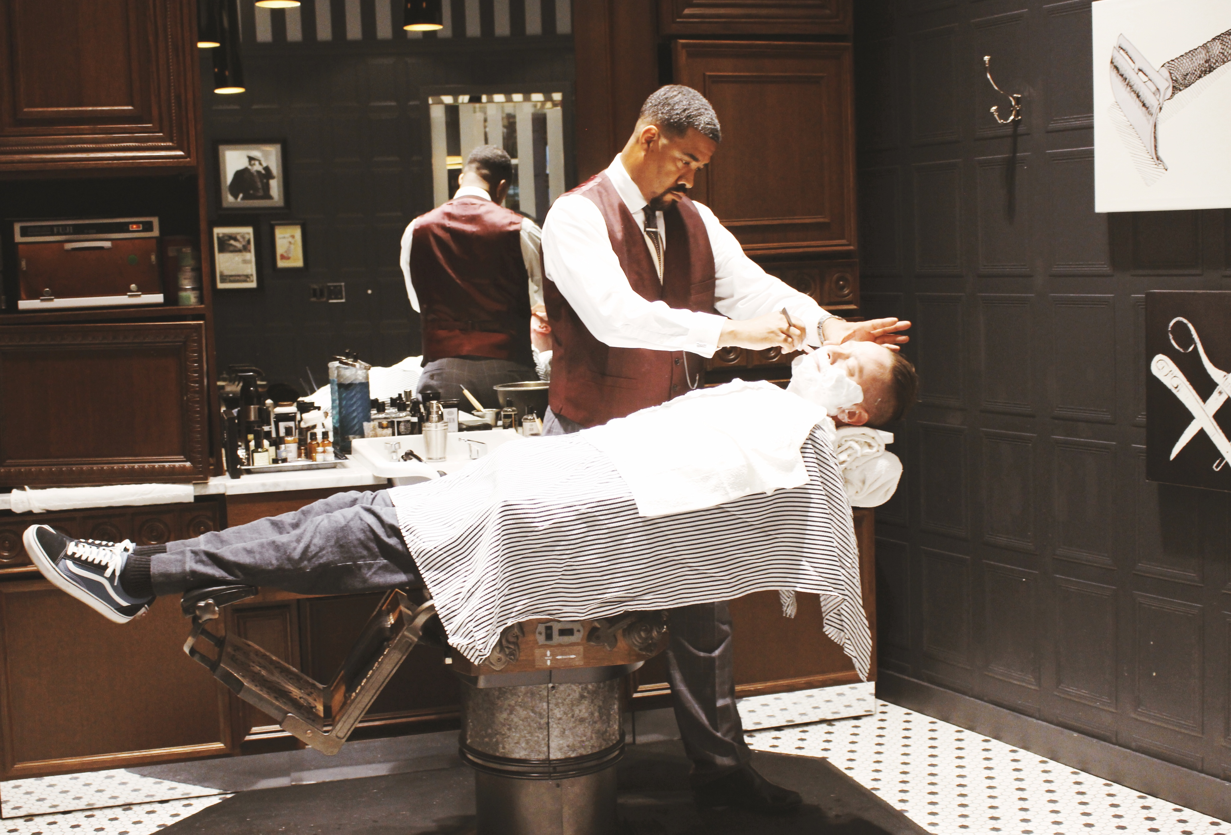 Old School Barber Chair Manly Gifting With The Art Of Shaving Christie Moeller